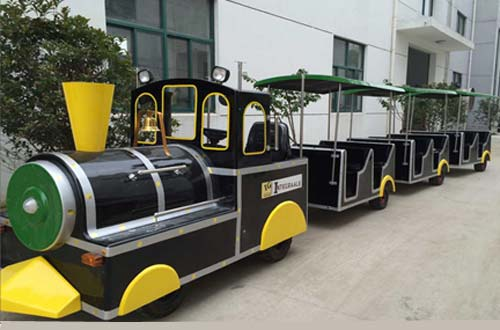 Hot selling Fiberglass Electric Trackless Train